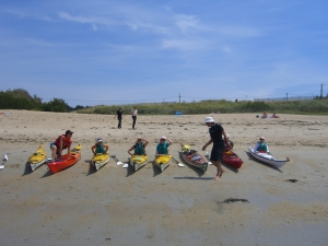 First experience beach-sea-kayak-family-quiberon-morbihan-brittany-canoe-nature-cote-sauvage
