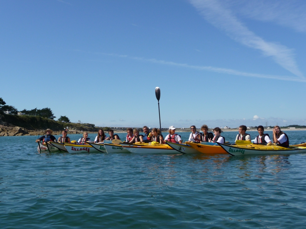 stages kayak adultes Bretagne morbihan quiberon kayak de mer radeau groupe