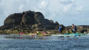 Prestations Kayak Stand up paddle quiberon morbihan Bretagne Stages enfants