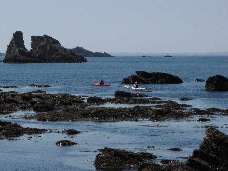 Grandes marees kayak bretagne morbihan quiberon sillages estran