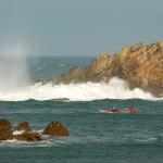 Bretagne-morbihan-quiberon-kayak-sillages-grosse-houle