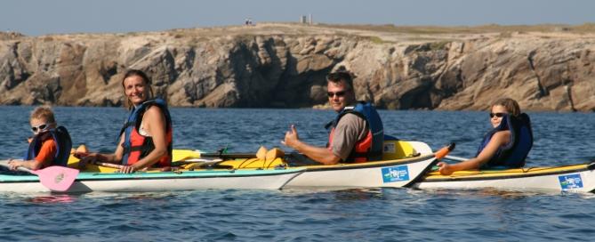 kayak en famille sur la presqu'île de Quiberon