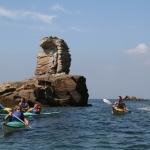 kayak en famille sur la presqu'île de Quiberon-beg-en-aud2