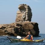kayak au feminin sur la presqu'île de Quiberon-beg-en-aud