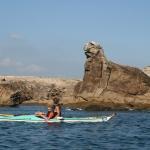 kayak en famille sur la presqu'île de Quiberon-lion-percho
