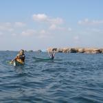 kayak en famille sur la presqu'île de Quiberon-cote-sauvage