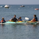 kayak en famille sur la presqu'île de Quiberon-portivy