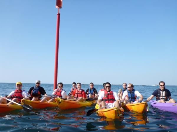Kayak groupes forfait centres de vavances Morbihan Quiberon C.E familles amis