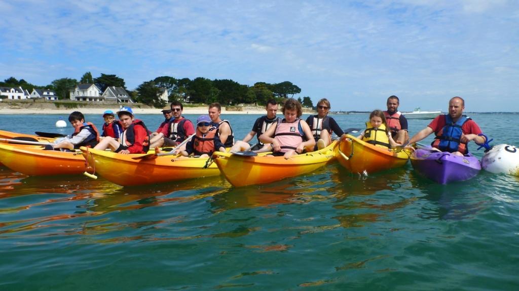 Kayak groupes forfait centres de vavances Morbihan Quiberon C.E familles amis2