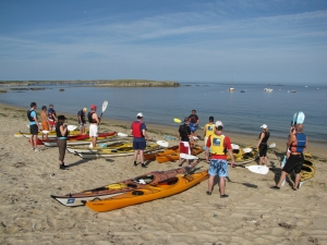 Départs sillages-kayak-mer-bretagne-morbihan-quiberon-carnac