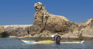 sea kayak courses week end brittany-morbihan-quiberon-carnac-trinite-cave