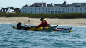 Stages Week-End Kayak-Recupération en mer Exterieure sillages quiberon carnac bretagne morbihan