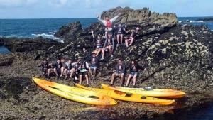 Kayak groupes forfait centres de vacances Morbihan Quiberon C.E familles amis-canoe