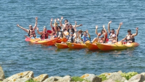 Kayak de mer groupe-Bretagne-morbihan Quiberon-sillages 2018