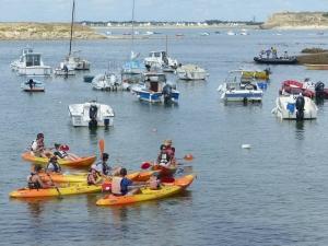 Kayak groupes forfait centres de vacances Morbihan Quiberon C.E familles amis