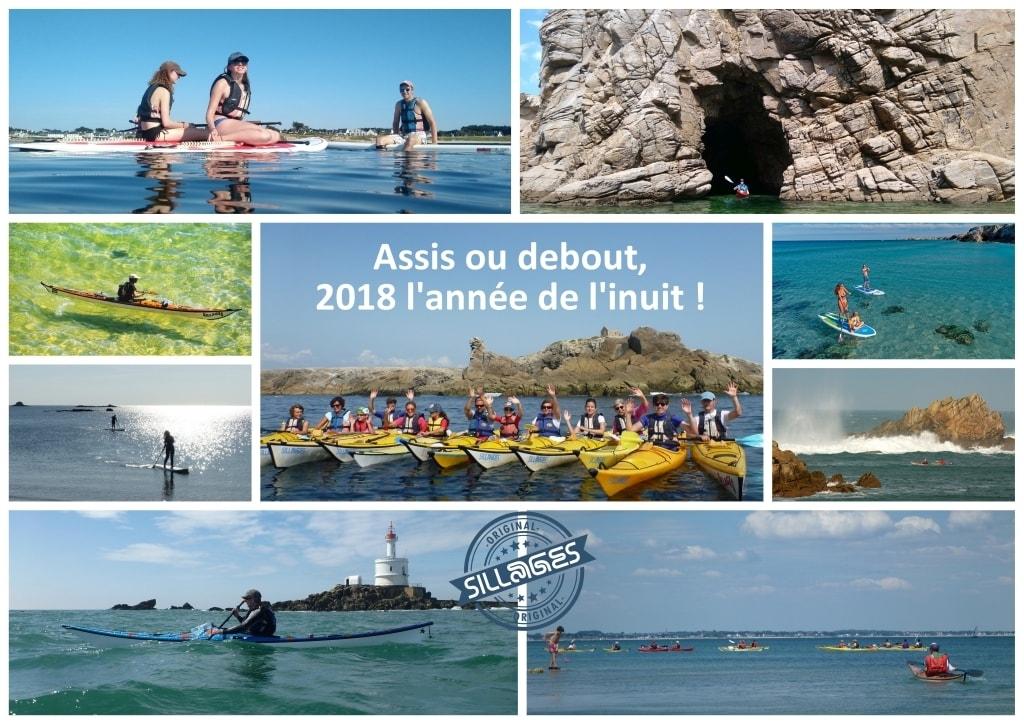 Voeux Sillages 2018 kayak et stand up paddle bretagne morbihan quiberon carnac