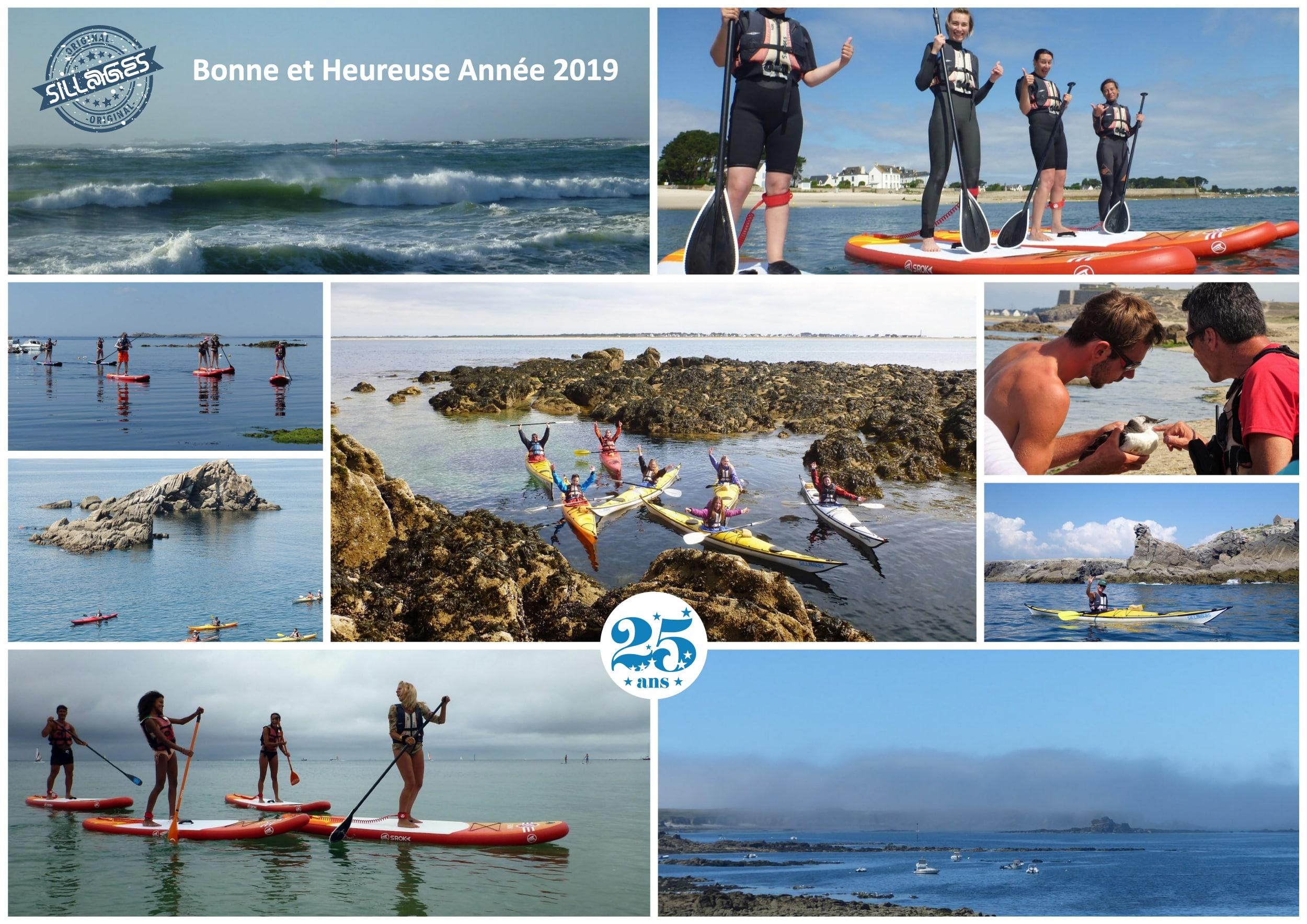 Voeux 2019 Sillages kayak paddle quiberon morbihan bretagne