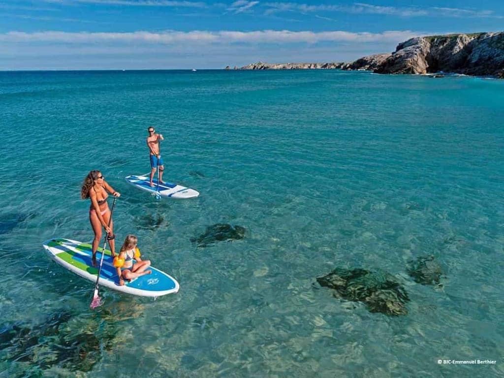 Kayak et Stand Up Paddle Quiberon Morbihan bretagne surf glisse BIC sport port bara