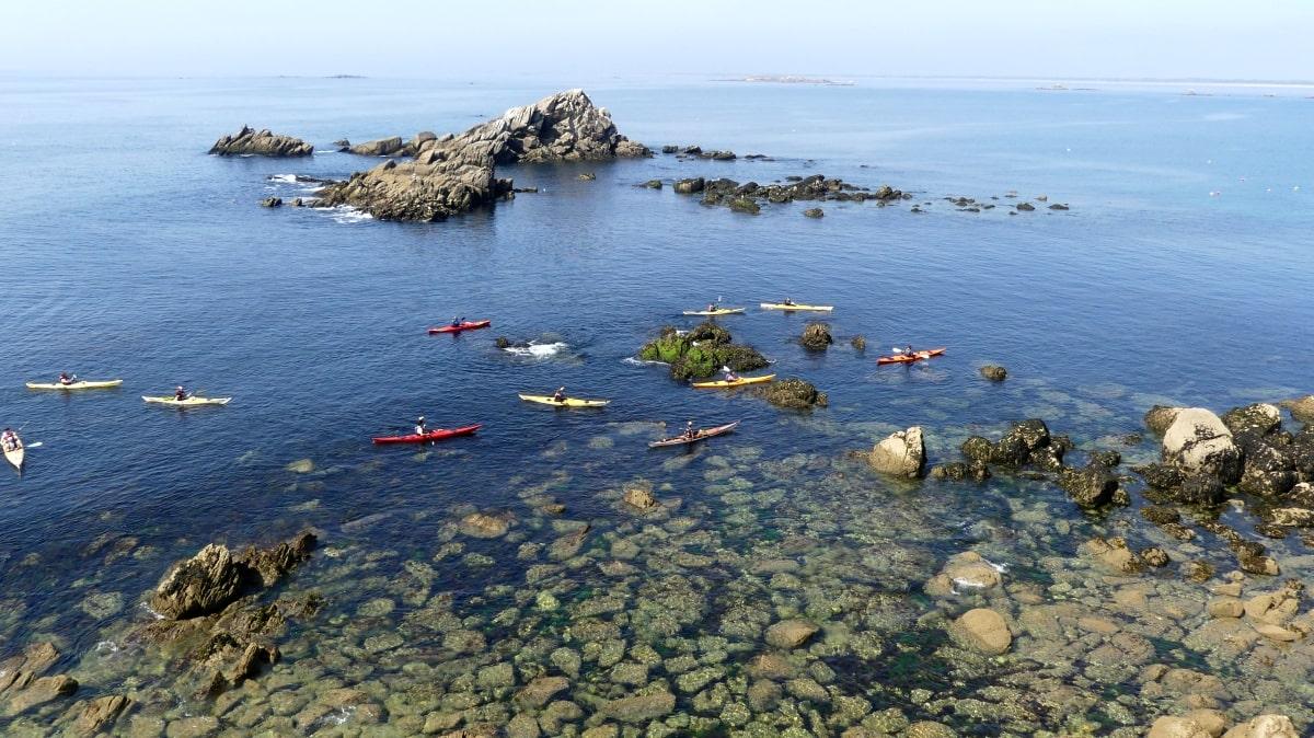 Kayak sillages quiberon morbihan bretagne
